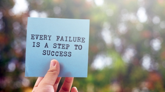 Failure pave the road to success